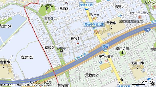 〒664-0001 兵庫県伊丹市荒牧の地図