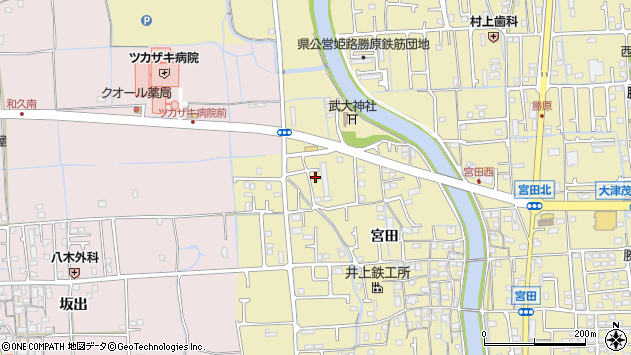 〒671-1213 兵庫県姫路市勝原区宮田の地図