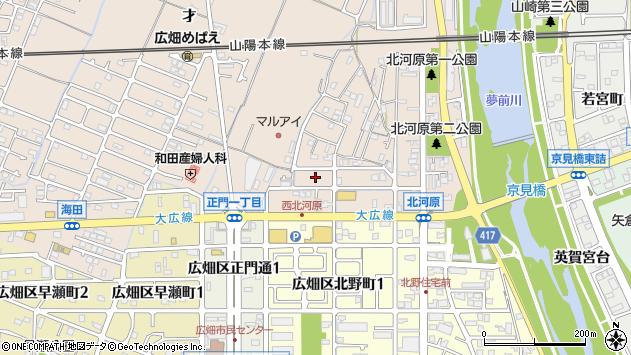 〒671-1111 兵庫県姫路市広畑区北河原町の地図