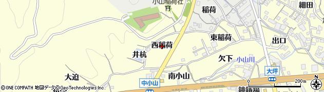 愛知県蒲郡市形原町(西稲荷)周辺の地図