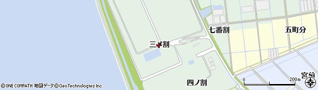 愛知県西尾市一色町細川(三ノ割)周辺の地図
