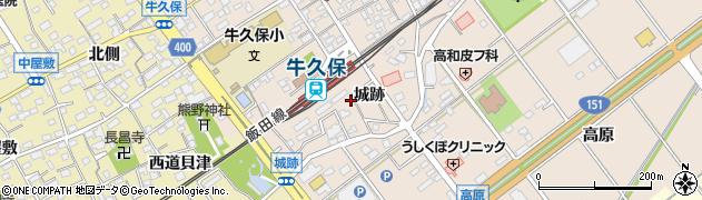 愛知県豊川市牛久保町(城跡)周辺の地図
