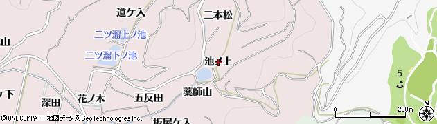 愛知県西尾市吉良町饗庭(池ノ上)周辺の地図