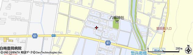 静岡県磐田市惣兵衛下新田周辺の地図