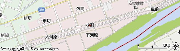 愛知県豊川市当古町(小割)周辺の地図