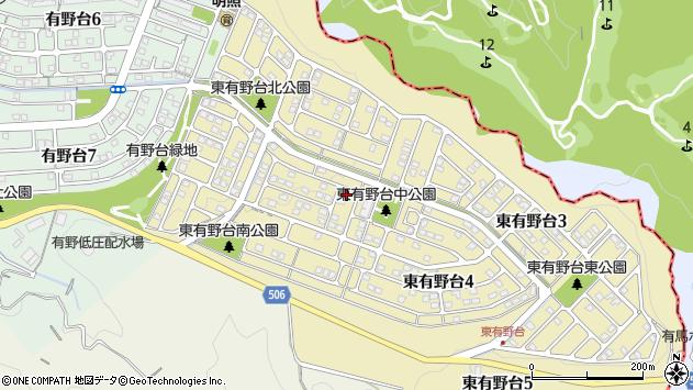 〒651-1322 兵庫県神戸市北区東有野台の地図