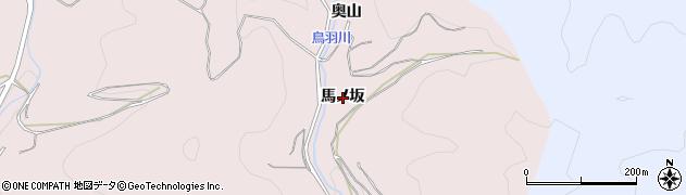 愛知県西尾市鳥羽町(馬ノ坂)周辺の地図
