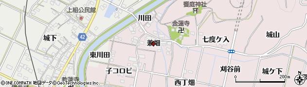 愛知県西尾市吉良町饗庭(兼畑)周辺の地図