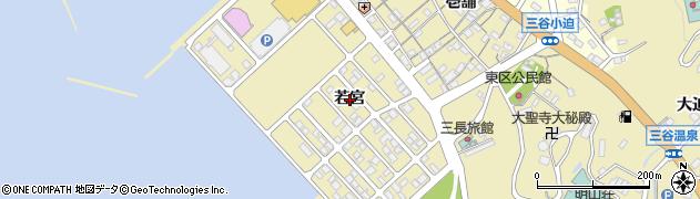 愛知県蒲郡市三谷町(若宮)周辺の地図