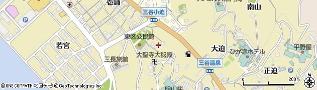 愛知県蒲郡市三谷町(小迫)周辺の地図