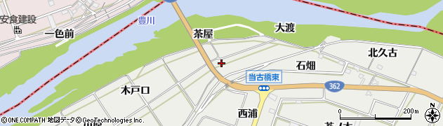 愛知県豊橋市石巻本町(茶屋)周辺の地図