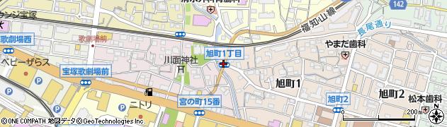 宝塚小前周辺の地図