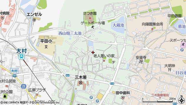 〒673-0405 兵庫県三木市平田の地図