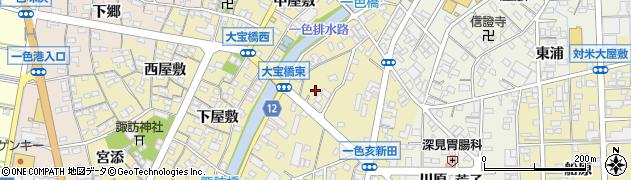 愛知県西尾市一色町一色(亥新田)周辺の地図