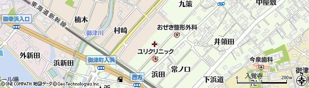 愛知県豊川市御津町西方(広田)周辺の地図