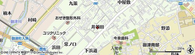 愛知県豊川市御津町西方(井領田)周辺の地図