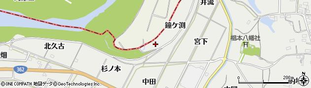 愛知県豊橋市石巻本町(鐘ケ渕)周辺の地図