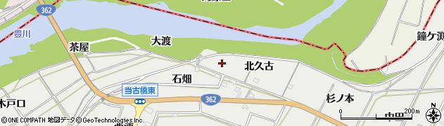 愛知県豊橋市石巻本町(北久古)周辺の地図