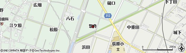 愛知県西尾市吉良町富田(惣作)周辺の地図