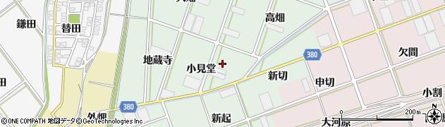 愛知県豊川市院之子町(小見堂)周辺の地図