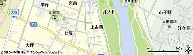 愛知県西尾市一色町大塚(上古新)周辺の地図