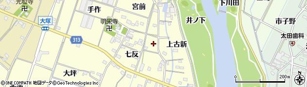 愛知県西尾市一色町大塚周辺の地図