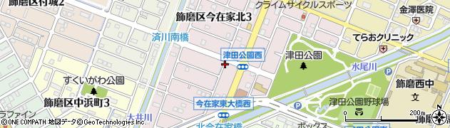 兵庫県姫路市飾磨区今在家北周辺の地図