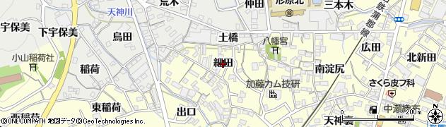 愛知県蒲郡市形原町(細田)周辺の地図