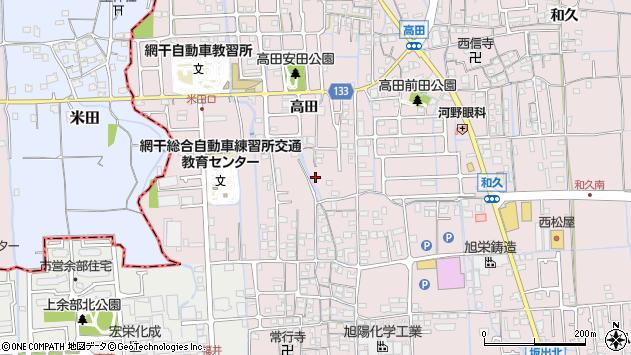〒671-1226 兵庫県姫路市網干区高田の地図