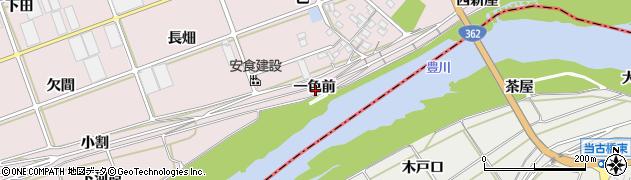 愛知県豊川市当古町(一色前)周辺の地図