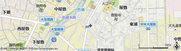 愛知県西尾市一色町前野(下新田)周辺の地図