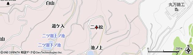 愛知県西尾市吉良町饗庭(二本松)周辺の地図