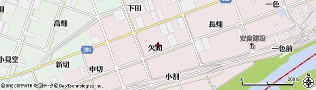 愛知県豊川市当古町(欠間)周辺の地図