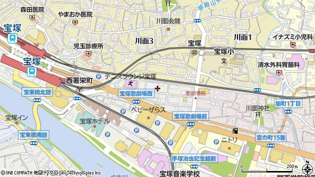 〒665-0845 兵庫県宝塚市栄町の地図