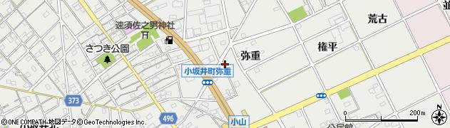 愛知県豊川市宿町(弥重)周辺の地図