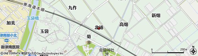 愛知県豊川市御津町下佐脇(北浦)周辺の地図