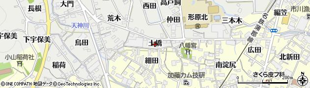 愛知県蒲郡市金平町(土橋)周辺の地図