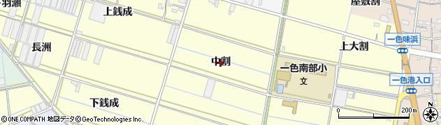 愛知県西尾市一色町中外沢(中割)周辺の地図