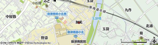 愛知県豊川市御津町御馬(加美)周辺の地図