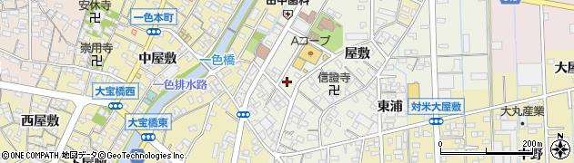 愛知県西尾市一色町前野周辺の地図