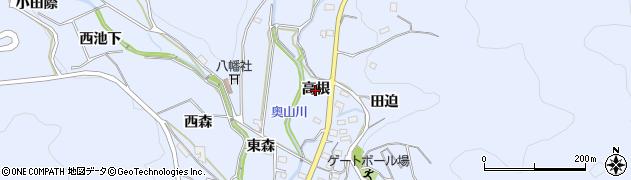 愛知県西尾市西幡豆町(高根)周辺の地図