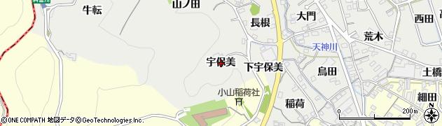 愛知県蒲郡市金平町(宇保美)周辺の地図