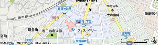 兵庫県姫路市飾磨区英賀春日町周辺の地図