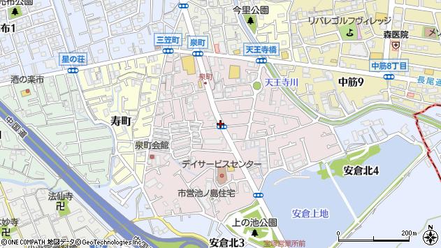 〒665-0864 兵庫県宝塚市泉町の地図