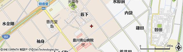 愛知県豊川市西島町周辺の地図