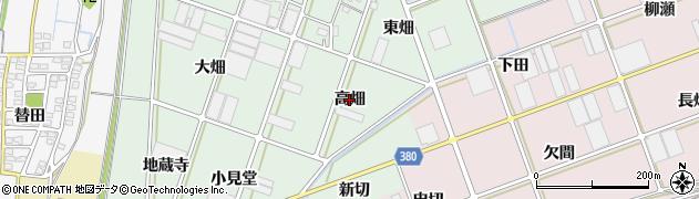 愛知県豊川市院之子町(高畑)周辺の地図