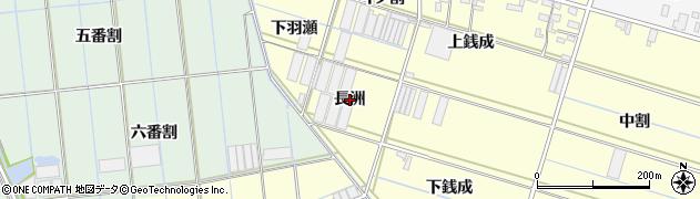 愛知県西尾市一色町中外沢(長洲)周辺の地図