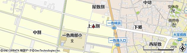 愛知県西尾市一色町中外沢(上大割)周辺の地図