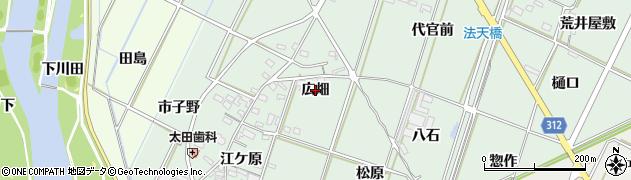 愛知県西尾市吉良町富田(広畑)周辺の地図