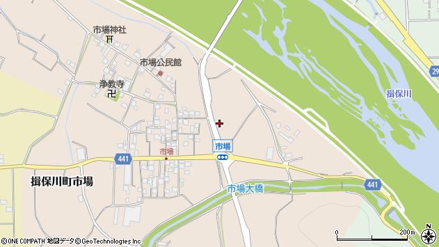 〒671-1662 兵庫県たつの市揖保川町市場の地図